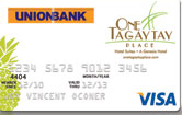 UnionBank One Tagaytay Place Credit Card