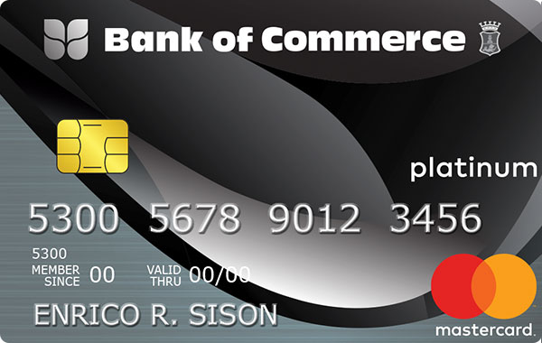 Bank of Commerce Mastercard Platinum
