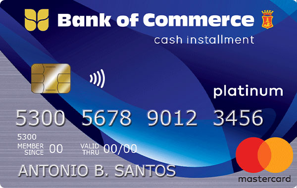 Bank of Commerce Cash Installment Card