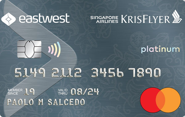 EastWest Singapore Airlines KrisFlyer Platinum Mastercard