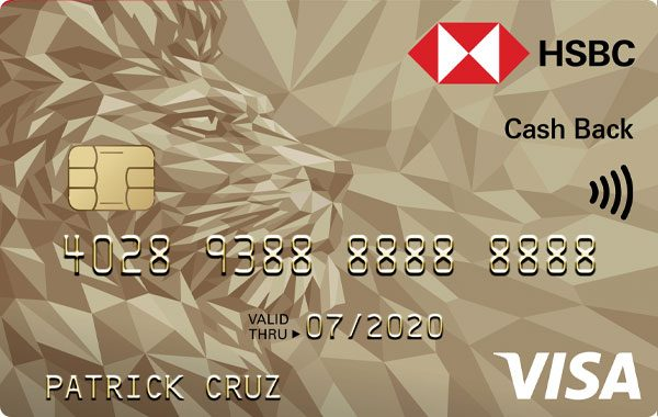 HSBC Gold Visa Cash Back Credit Card