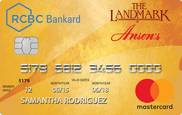 RCBC Bankard The Landmark Anson's Mastercard