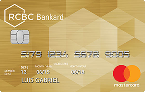 RCBC Gold Mastercard Credit Card