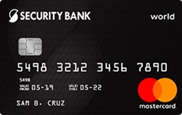 Security Bank World Mastercard