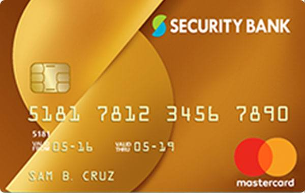 Security Bank Mastercard Gold