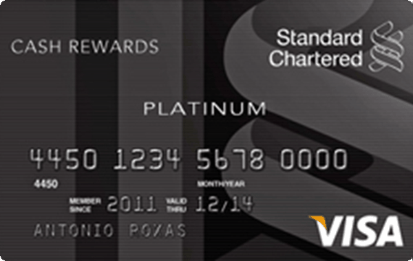 Standard Chartered Platinum Cash Rewards Card