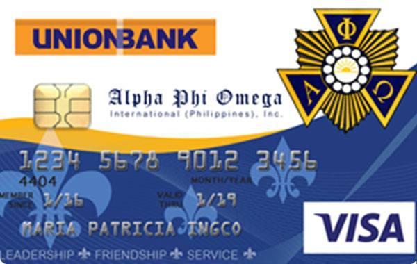 UnionBank Alpha Phi Omega Visa Card