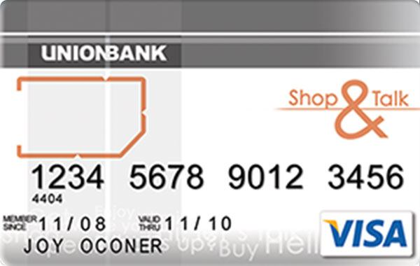 UnionBank Shop & Talk Visa Card