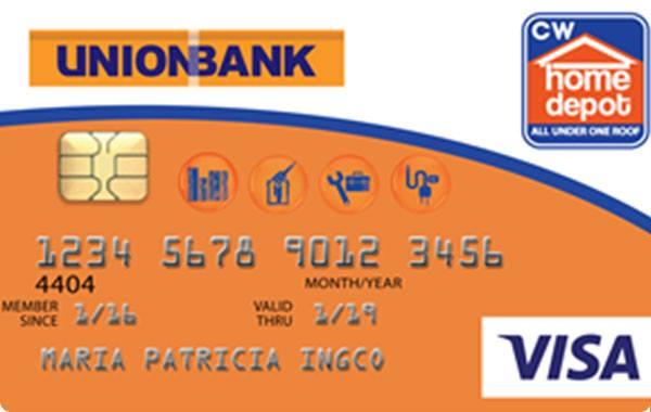 UnionBank Home Depot Visa Card