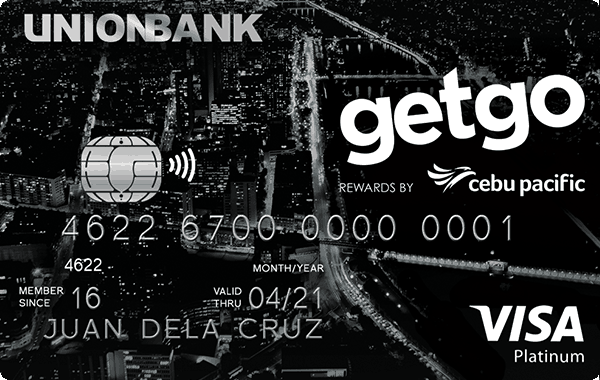 UnionBank Cebu Pacific GetGo Platinum Credit Card